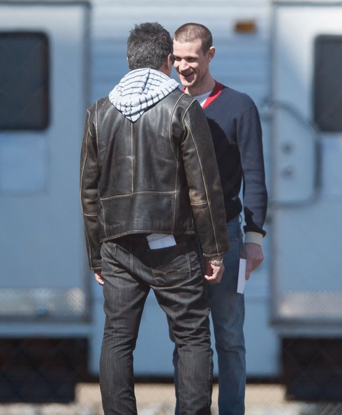 British actor Matt Smith sports a new haircut on the set of 'How To