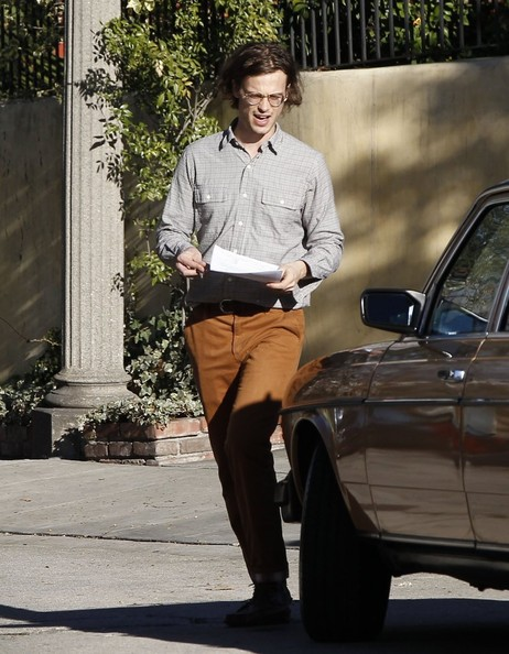 photo of Matthew Gray Gubler  - car