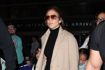 Maximilian Muniz Jennifer Lopez Arrives at LAX Airport