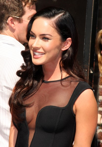 megan fox makeup less. megan fox makeup and hair.