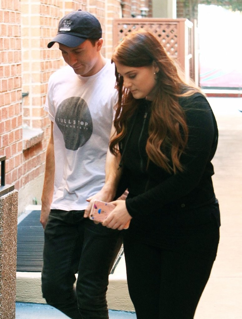Meghan Trainor Stops by a Medical Building With Her