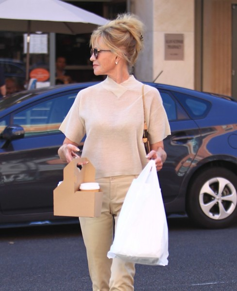 Melanie Griffith Grabs Lunch in Beverly Hills