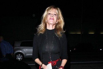 Melanie Griffith Celebs Get Dinner at Craig's