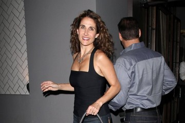 Melina Kanakaredes Celeb Out to Dinner at Crossroads Restaurant