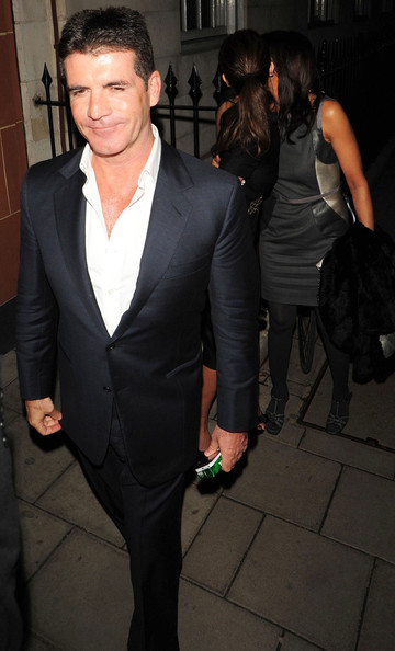 mezhgan hussainy simon cowell. Simon Cowell Out For Dinner In