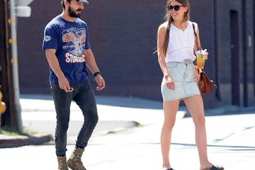 Mia Goth Shia LaBeouf & Mia Goth Out For Lunch At Lemonade