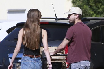 Mia Goth Shia LaBeouf and Mia Goth Get Groceries