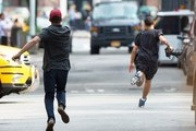 Michael C. Hall Chases a Photographer