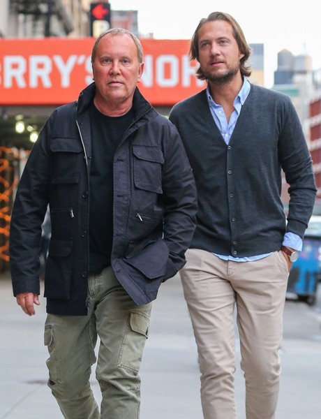 Michael Kors & Lance LePere Out for a Stroll in NYC - Zimbio