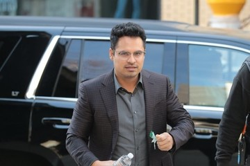 Michael Pena Stars Perform on the Set of 'Collateral Beauty' in NYC