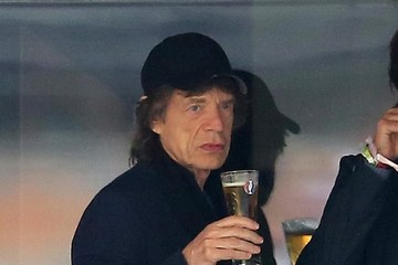 Mick Jagger Mick Jagger and Son Lucas Atttend a Soccer Game in France