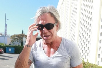 Mickey Rourke Mickey Rourke Out For Lunch At Cafe Roma