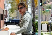 Mickey Rourke Goes Out for Lunch in Beverly Hills