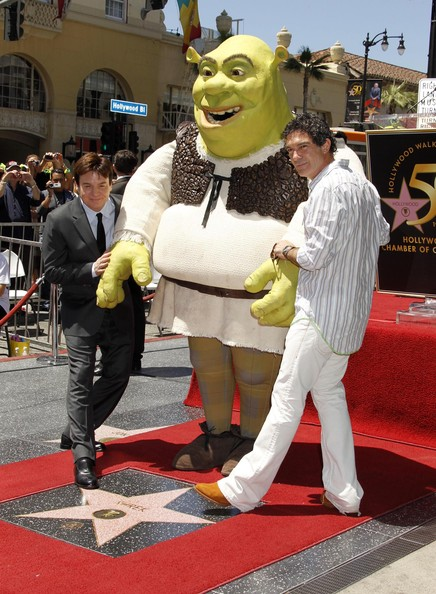 Mike Myers and Antonio Banderas - Shrek Honored With A Star On The Hollywood ...