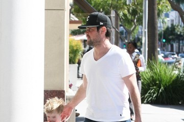 Mike Comrie Mike Comrie Out and About with His Son