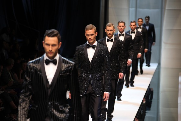 Models on the catwalk at the 'Dolce & Gabbana' Spring/Summer 2010 fashion show during Milan Fashion Week.