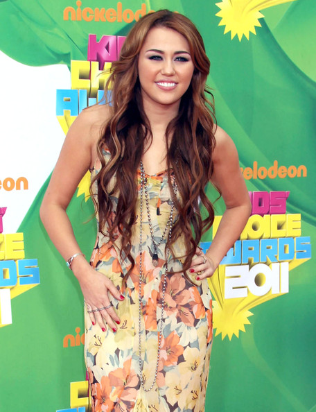 Miley Cyrus Celebrities attending the 2011 Nickelodeon's Kids' Choice Awards at the Galen Center in Los Angeles, CA.