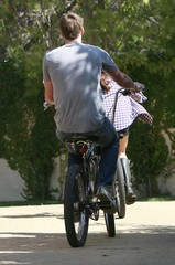 Miley Cyrus Liam Hemsworth Miley Cyrus And Liam Hemsworth Out For A Bike Ride