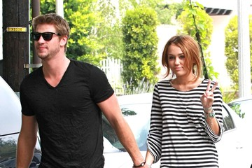 Miley Cyrus Liam Hemsworth Miley Cyrus And Liam Hemsworth Out In Toluca Lake