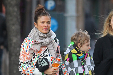 Mingus Reedus Helena Christensen And Son Mingus Out In New York