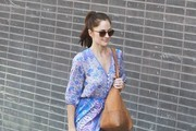 Minka Kelly Leaving a Hair Salon