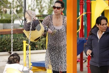Minnie Driver Minnie Driver And Son Out And About In Malibu