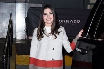 Miranda Cosgrove Celebrities Visit the 'AOL Build' in NYC