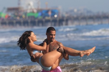 Montana Manning MC Harvey and Montana Manning Enjoy a Beach Day in Santa Monica