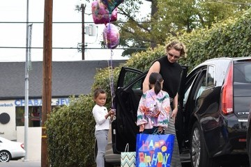 Nancy Kelley Katherine Heigl and Her Family Go to a Birthday Party in LA