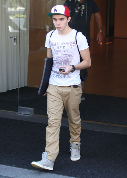 Nathan Sykes Nathan Sykes and Siva Kaneswaran of the boy band The Wanted seen leaving their hotel and greeting fans in Hollywood, California on April 9, 2012.