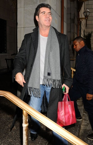 Simon Cowell in New Dad Simon Cowell Visiting Lenox Hill