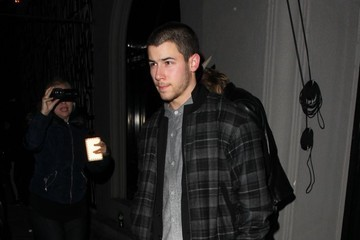 Nick Jonas Celebrities Dine Out at Craig's Restaurant