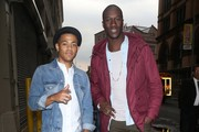 Norwegian singing/songwriting duo Nico & Vinz (Nicolas Sereba and Vincent Dery) pose for some pictures while out and about in New York City, New York on September 16, 2014.