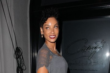 Nicole Murphy Celebrities Dine Out At Craig's