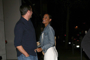 Michael Strahan Nicole Murphy Nicole Murphy & Michael Strahan Dine Out At Craig's