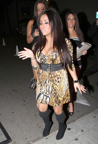 Nicole Polizzi 'Jersey Shore' stars Nicole 'Snooki' Polizzi, Sammi 'Sweetheart' Giancola and Deena Nicole Cortese seen leaving the Voyeur nightclub in West Hollywood, CA.