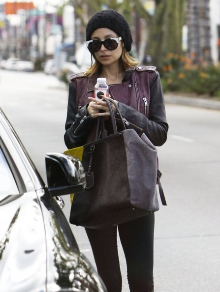 Reality star Nicole Richie leaving the gym after a workout on April 1, 2013 in Studio City, California.