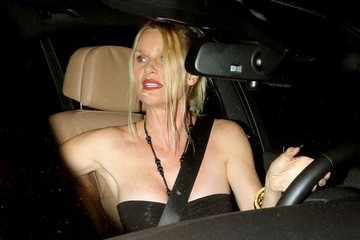 Nicollette Sheridan Celebs Get Dinner in West Hollywood