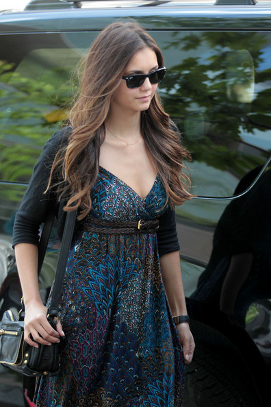 Nina Dobrev - Nina Dobrev And Her Mom Leaving Their New York Hotel
