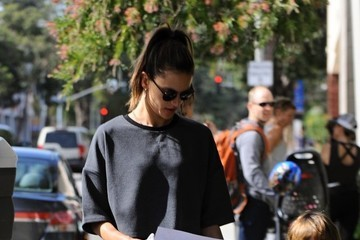 Noah Mazur Alessandra Ambrosio Runs Errands With Her Son In LA
