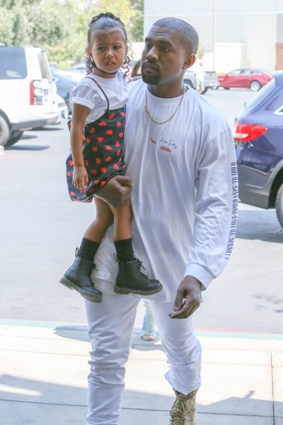Kim Kardashian, Kanye West, and North West See 'Finding Dory'