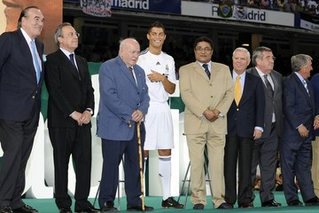 Alfredo di Stefano Official Presentation Of Cristiano Ronaldo At The Real Madrid Soccer Team