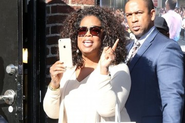 Oprah Winfrey George Clooney Arrives at 'The Late Show With David Letterman'