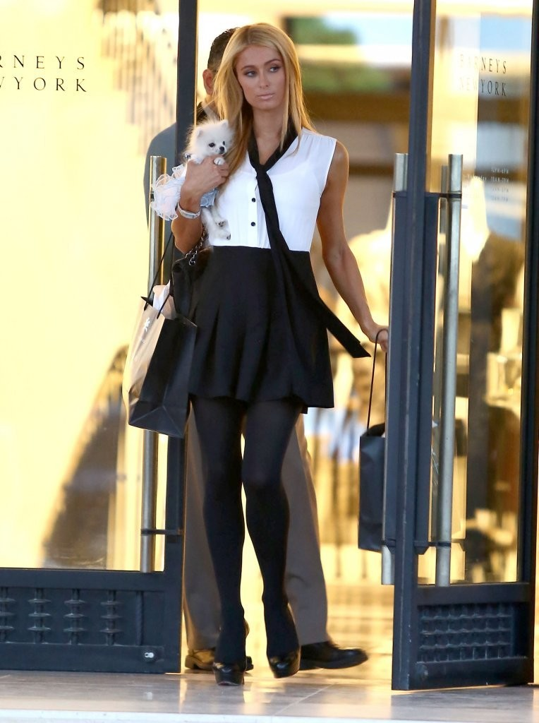 Paris Hilton Shops in ... Malin Akerman