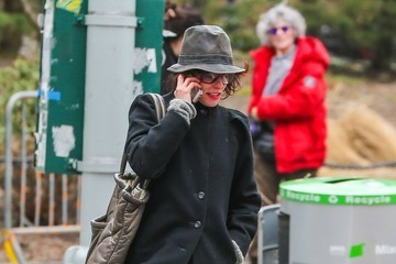 Parker Posey Parker Posey Walks Her Dog In NYC