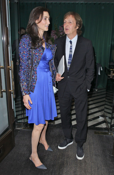 Paul McCartney - Celebrities At Cecconi's Restaurant In London