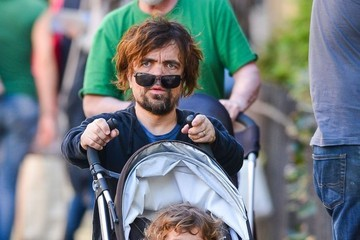 Peter Dinklage Peter Dinklage Out For a Walk With His Daughter