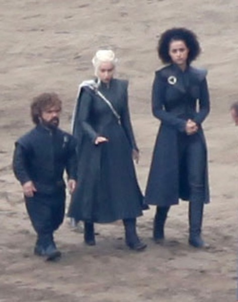 Stars On The Set Of 'Game Of Thrones'