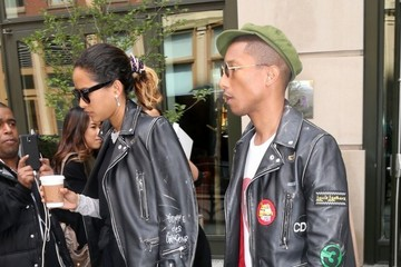 Pharrell Williams Pharrell Williams and His Wife Out in New York