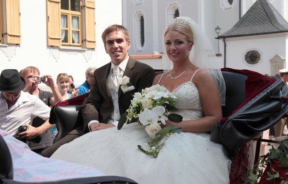 Philipp Lahm with beautiful, Wife Claudia Schattenberg
